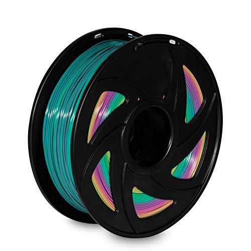 XVICO PLA Filament 1.75mm, 3D printing Filament PLA for 3D Printer and 3D Pen, 1KG Spool (2.2LBS), Rainbow Multicolor