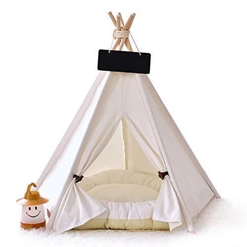 Haustier Tipi Hunde Tipi Zelt Hause und Zelt mit Spitze für Hund oder Haustier, Hundezelt Kleine Hunde,höhle Hund,Katzenzelt Haustierzelte,abnehmbar und waschbar mit Matraze