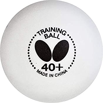 Butterfly 40+ Training Table Tennis Ball – 40+ Ball Used for Training – White 40mm Training Balls – Box of 120 – 40+ Training Balls are Comparable to a Three-Star Ball