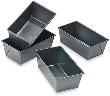 Reservation Set of 4 Chicago All items free shipping Metallic Loaf Pans Mini Professional