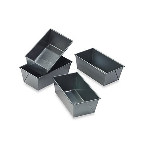 (Set of 4) Chicago Metallic Professional Mini Loaf Pans
