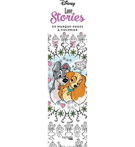 Marque-pages Disney Love stories: 50 marque-pages à colorier