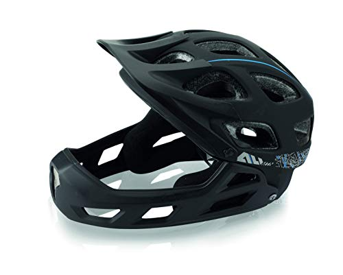 XLC Casco Full Face all MTN BH-F05 Unisex-Adult, Nero, 52-56 cm