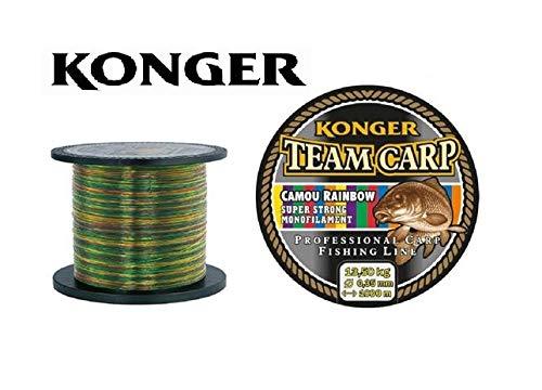 Konger Angelschnur Team CARP Rainbow Spule 1000m Monofile Karpfenschnur (0,28mm / 10,00kg)
