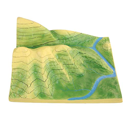 ACXLONG School Geology Class Teaching Aids - Removable Contour Line Model Terrain Plate Tectonics Model Kit- for Geography Class Demonstration Teaching Learning Aids
