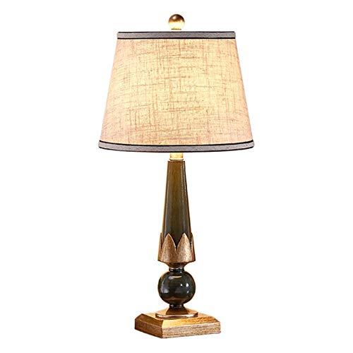 Chenhan 24.4'Diseño Retro lámpara de Mesa lámpara de Noche lámpara de Noche Resina cónica Parche Parche lampana Moderna Sala de Estar decoración lámpara de Mesa (Color : Dark Green)