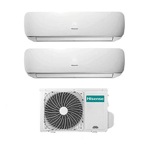 Condizionatore Climatizzatore Dual Split Inverter Hisense Mini Apple Pie 9000+12000 9+12 Btu A++ 3AMW58U4SZD1