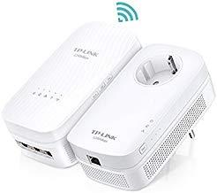 TP-Link TL-WPA8730 Kit WiFi-1750Mbps - 2 adaptadores de comunicación por línea eléctrica PLC/Extensor/repetidores de Red, Amplificador Cobertura Internet (4 Puertos/Smart TV/Ps4/Nintendo Switch)