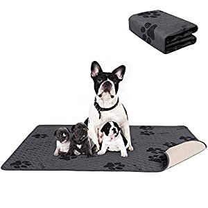 amorus Washable Dog Pee Pads, Waterproof Dog Bed Mat, Super Absorption Puppy Pee Pad for Training, Travel, Whelping