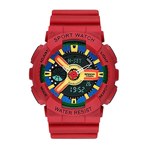 Lvmiao Reloj de Verano Unicornio, Estudiantes de la Escuela Secundaria Moda Big Dial Tendent Watch, Reloj de Cuarzo de cinturón de Cuero Impermeable,10