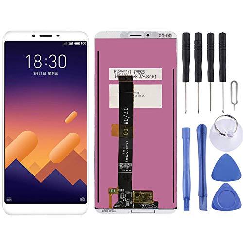 De Galen Accessory Kits - Pantalla táctil para pantalla LCD Meizu y digitalizador para Meizu E3 (color: blanco)