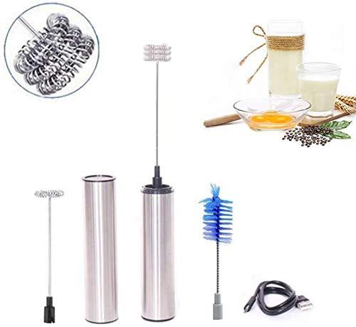 Handheld Elektrische Roer Stick Blender Melkopschuimer Schuimer Roeren Garde Hoofd Roerwerk Mixer Keuken Koffieopruier Maker Tool(Upgrade)
