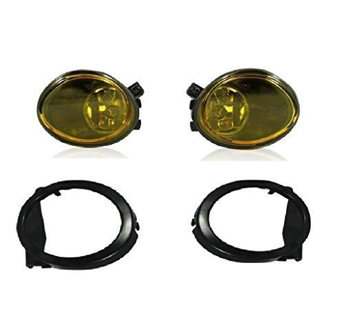 2x Nebelscheinwerfer Gelb Klarglas US Look + 2x HB4 Leuchtmittel E4 Passgenau Neu Hochwertig