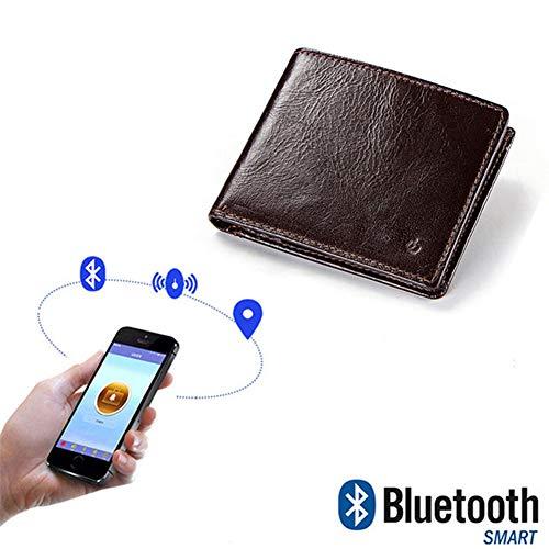 M3M Recordatorio de la Alarma de la Cartera Anti-perdida de los Hombres Búsqueda bidireccional Bluetooth Inteligente Posicionamiento de la Anti-pérdida Práctico Exquisito Monedero Monedero,1PACK