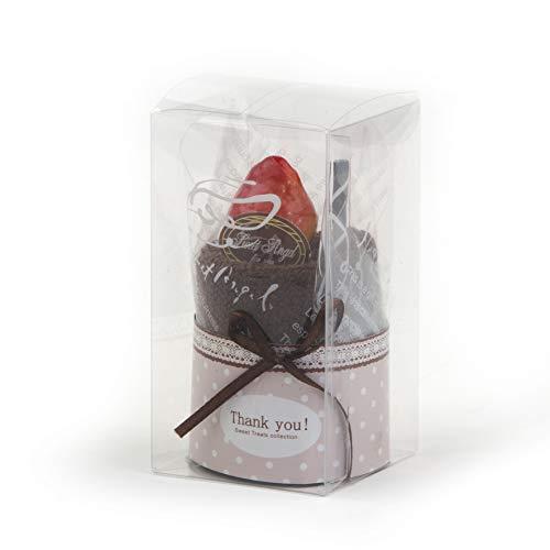 Mopec A1046 - Toalla forma pastel chocolate, 1 unidad