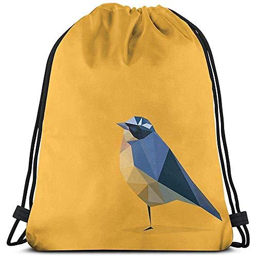Bolsas De Cuerdas Gimnasio,Mochila con Cordón,Backpack,Drawstring Bolso,Pájaro Mujer/Hombres Cinch Pack,Mochila De Viaje...