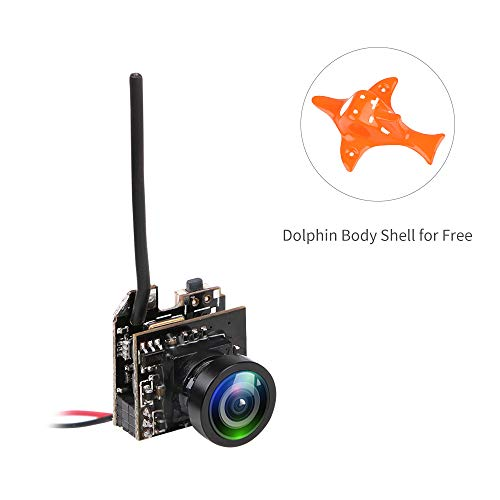 Makerfire Mini cámara AIO FPV 800TVL CMOS NTSC/PAL Transmission de Video para Micro FPV Multicopter Racing Drone Like Inductrix de Cuchilla Whoop pequeña, Armor 65 Lite