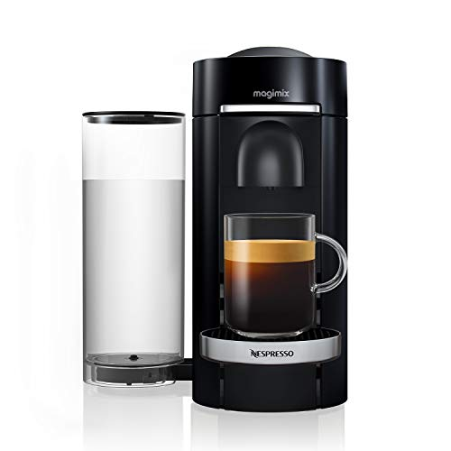 Nespresso Vertuo Plus Coffee Machine, Black finish by Magimix - 11385 - Claim 50 coffee capsules plus 2 months' (1st & 6th) coffee subscription for free when you buy this product