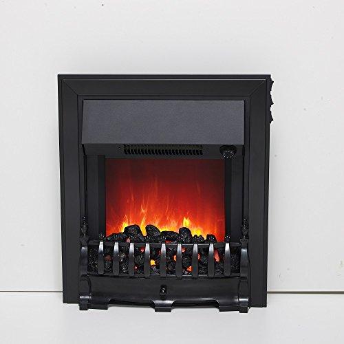 Be Modern Fazer Inset LED Electric Fire Black