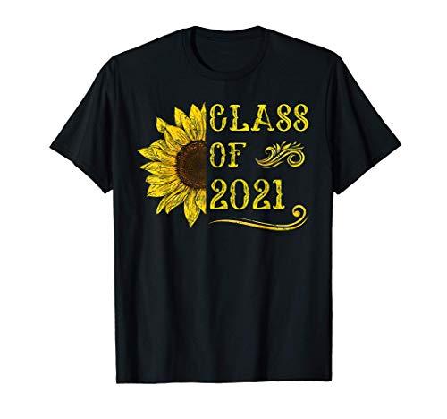 Clase de 2021 Camisa de girasol Graduación Graduado superior Camiseta