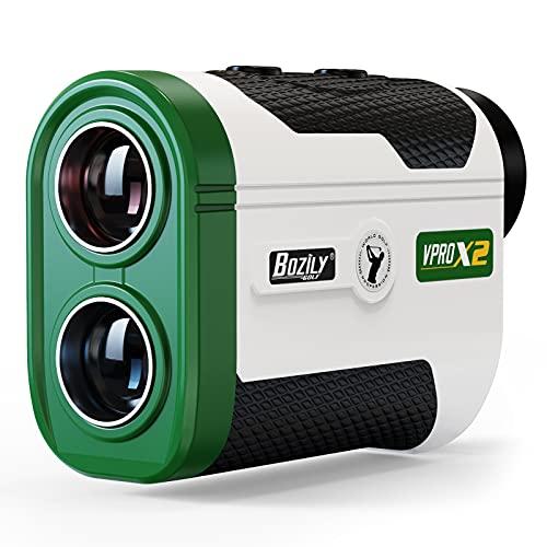 Bozily Golf Rangefinder, 1500 Yards Laser Range Finders with Slope Vibration, Fast Flag-Locking, Continuous Scan Mode for Distance and Slope Measurement
