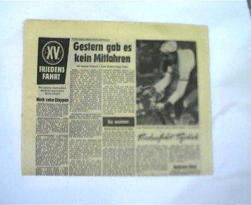 Alte seltene DDR - Zeitungssammlung zum Thema Friedensfahrt 1962: Ausschnitte aus verschiedenen DDR-Zeitungen,