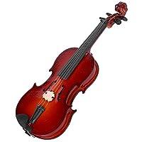 ロマンチックなギフト バイオリンモデル、ユニークで優れた環境に優しいミニチュアバイオリンモデル本棚用ホームベッドサイドテーブルオフィスデスク(14cm)