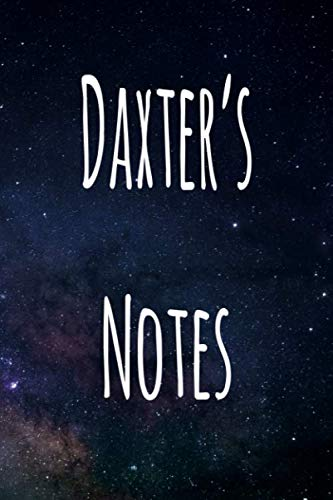 Daxter's Notes: Personalised Name Notebook - 6x9 119 page custom notebook- unique specialist personalised gift!
