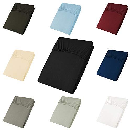 CelinaTex Active poszewki na poduszkę, zestaw 2 szt., dekoracyjne pokrowce na poduszkę do spania na boku, pod głowę, poduszkę ozdobną, poduszkę na sofę Topper Spannbettlaken 140x200 - 160x200 cm czarny