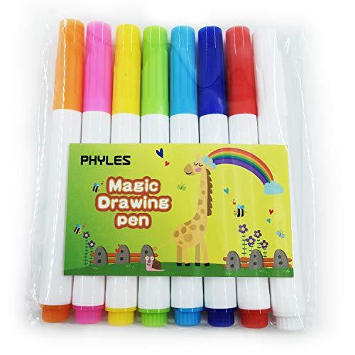 PHYLES 8 Kleuren Schrijven Tekening Pens Set, Art Pen voor Graffiti Gift Cards/Scrapbook/Journal, schilderijen, DIY Art Crafts (Lengte 12cm)