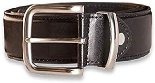"Hawkdale Mens Real Genuine Leather belts Size Medium 32-36"" Waist brown black style 815 wide Silver Buckle"