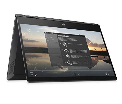 HP Envy x360 Ryzen 5 13.3-Inch 2-in-1 FHD Touchscreen Laptop (8GB/512GB/Windows 10/Vega 8 Graphics/MS Office/Nightfall Black/1.3 kg), 13-ar0118au