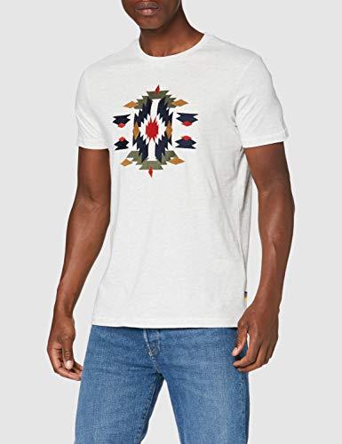 Springfield 5Mi Embroidery-c/41 Camiseta, Gris (Dark_Grey 41), L (Tamaño del Fabricante: L) para Hombre