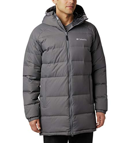 Columbia Men's Macleay Down Long Jacket, City Grey, Medium