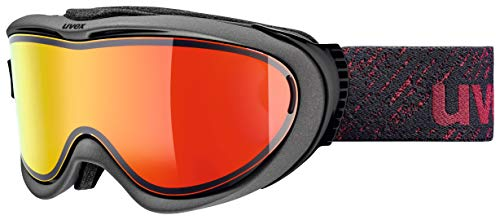 Uvex Erwachsene Comanche TOP Skibrille, Anthracite/Red mat, One Size
