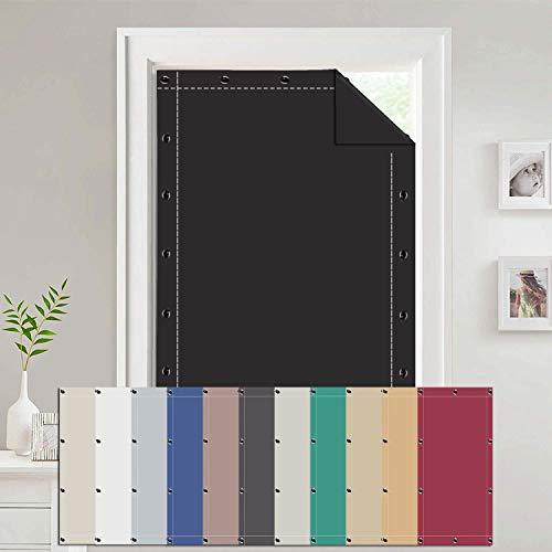 Cortinas para Velux 76x140cm Aislante Térmico Anti UV, Estores Sin Taladrar para Ventanas, para claraboyas Velux-Negro