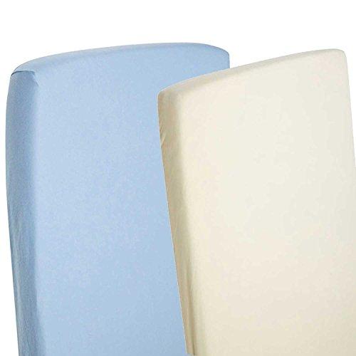 Sábana bajera ajustable compatible con cuna Chicco Next 2Me, 100% algodón, color blanco (4 unidades)