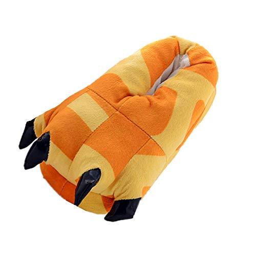 Damen Plüsch Pantoffeln Schnecke Hausschuhe Kostüm Tierhausschuhe warm Geschenk zum Weihnachten Gr. 35-41 (Giraffe)