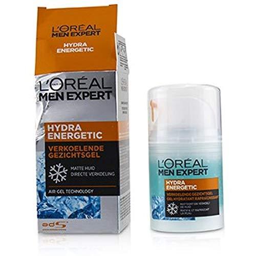 3er Pack - L'Oréal Men Expert kühlendes Gesichtsgel - Hydra Energetic - für normale und trockene Haut - 50 ml