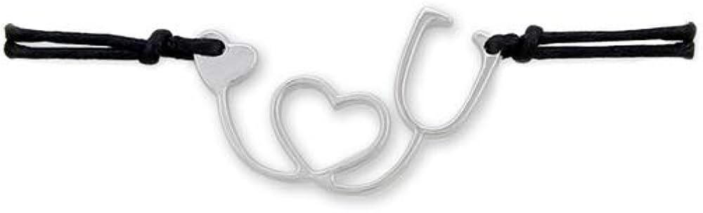 BELUCKIN Doctor Nurse Bracelet Heart Stethoscope Cord Bracelet for RN Graduation Gifts