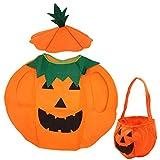 Abnaok Costume de citrouille pour enfants - Manteau d'Halloween avec chapeau - Pour...
