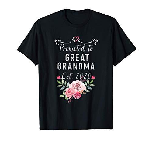 Promocionado a bisabuela est. 2020 regalo de anuncio de bebé Camiseta