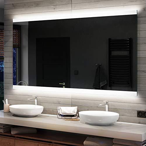 FORAM Espejo de Baño con Iluminación LED - Luz Espejo de Pared con Accesorios - Diferentes tamaños para Baño Dormitorio Maquillaje - L47