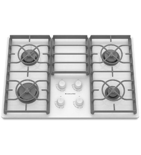 Big Sale Best Cheap Deals Kitchenaid KGCC506RWW 4 Burners Gas-on-Glass Surface Architect Series II