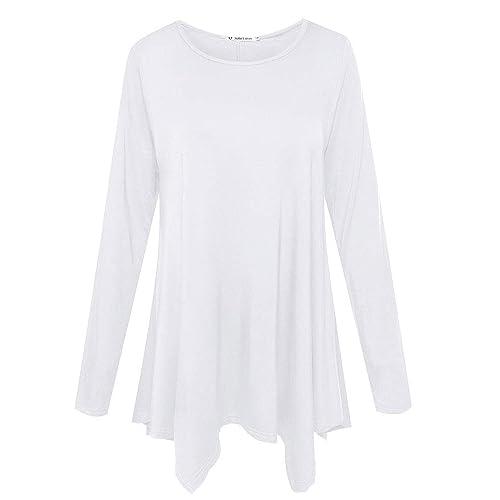 c633eea9783bb1 JollieLovin Womens Long Sleeve Tunic Top Loose Plus Size T Shirt