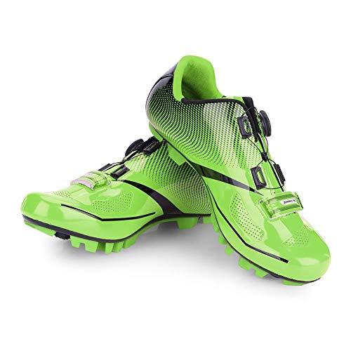 VGEBY1 Zapatillas de Bicicleta para Hombre, Zapatillas Antideslizantes para Bicicletas(39-Verde)