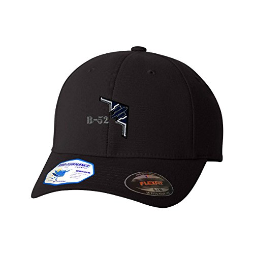 B-52 Stealth Bomber Name Flexfit Pro-Formance Embroidered Cap Hat Black Large/X-Large