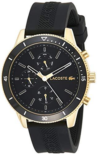 Lacoste Herren Multi Zifferblatt Quarz Uhr mit Silikon Armband 2010994