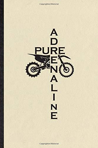 mountain bike yamaha Pure Adrenaline: Blank Funny Dark Bike Driving Journal Notebook To Write For Motorbike Driver Rider