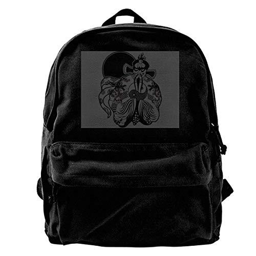 IUBBKI Mochila lateral negra Mochilas informales Men's Jack Burton Backpack Casual Daypack